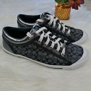 Coach Francesca Black/Gray Shoes Size 8